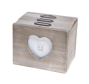Rustic Heart Photo Box