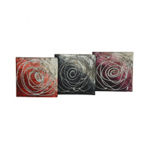 Coasters Set of 4 Sparkle Roses Black