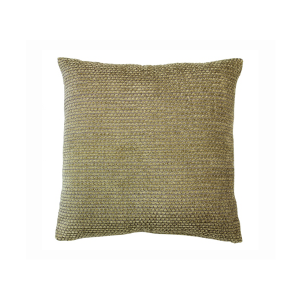 Chunky Chenille Green Cushion With Inner 50cm x 50cm