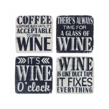Comedy Coasters Wine Sayings
