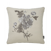 Embroidered Floral Aquitaine Cushion 17 x 17