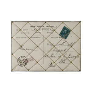 Shabby Chic French Style Padded Fabric Carte Postale Memo Message Board